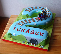 3D Thomas Tank Engine Number Cake