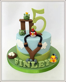 Angry Birds Final Level Cake