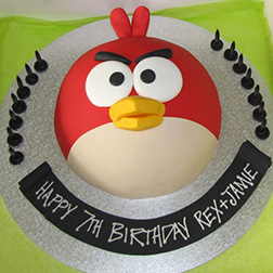 Angry Birds' Red 3D Cake