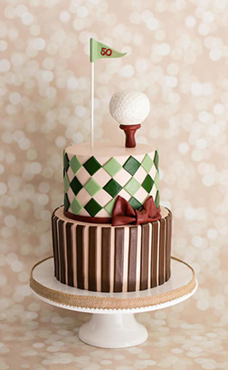 Golf Ball on Tee Tiered Cake 2