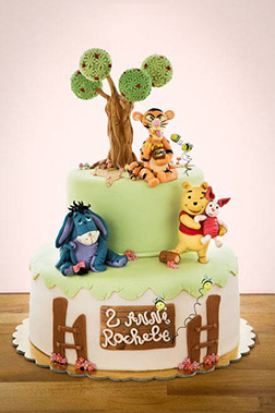 Pooh's 100 Acre Wood Friends Tiered Cake