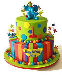 All Star Elephant Cake