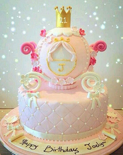 Cinderella's Enchanted Coach 3D Quilted Cake