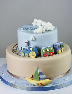By Land & By Sea Birthday Cake