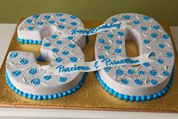 Honarary Blue Number Cake