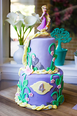 Rapunzel's Locks of Love Tiered Cake