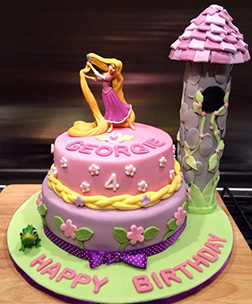 Rapunzel's Morning Stroll Tiered Cake