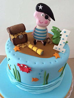George Pig the Pirate Cake