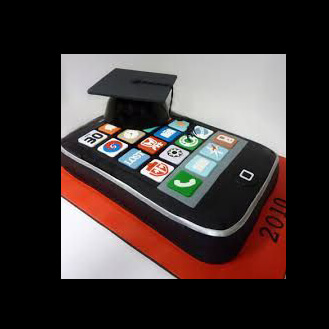 iPhone Graduation Cap Cake