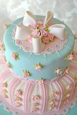 Victorian Charm Birthday Cake
