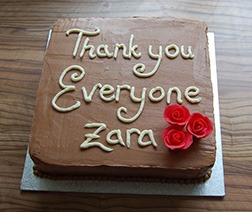 Thank You Note Chocolate Cake
