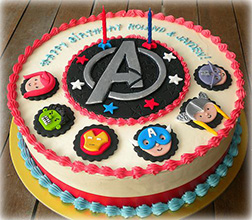 Mightiest Heroes Avengers Cake