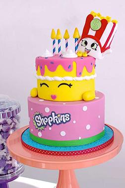 Wishes & Poppy Corn Birthday Cake