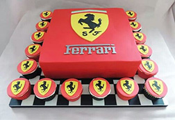 Ferrari Badge Cake & Cupcakes