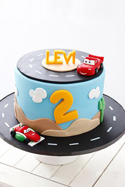 Lightning & Francesco Racing Cake