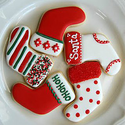 Christmas Stocking Cookies