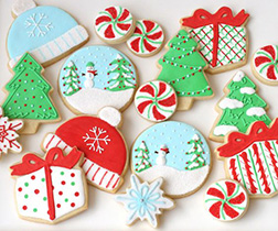 Presents & Baubles Cookie