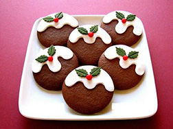 Christmas Mistletoe Cookies