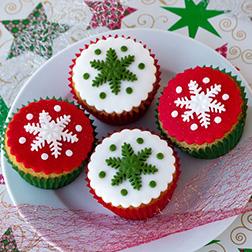 Snowflakes Half Dozen (6) Cupcakes