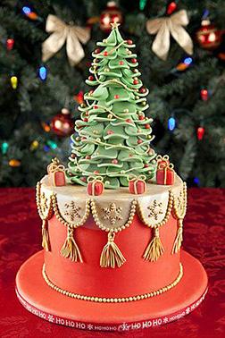 Christmas Tree 3D Cake