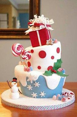 Magical Christmas Tiered Cake