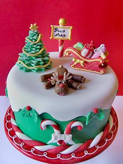 Rudolph's Joyful Christmas Cake