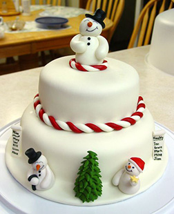 Frosty And Friends Snowman Cake