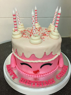Pink Shopkins Wishes Cake
