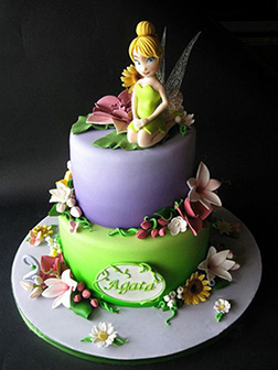 Tinkerbell Wildflower Birthday Cake