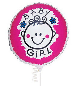 Baby Girl Balloon I