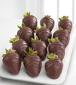 Black Magic - Dozen Dark Chocolate Covered Strawberries