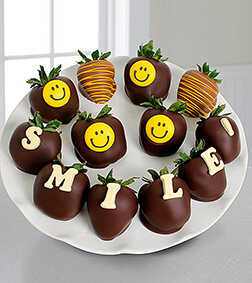 Chocolate Dipped Smile Berry Gram