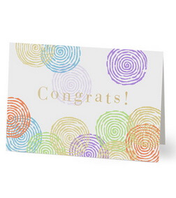 Colored Spirals Congrats Card