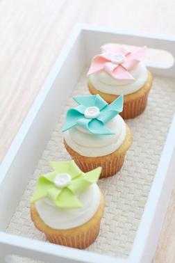Pastel Pinwheels Dozen Cupcakes