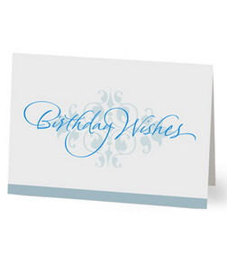 Elegant Birthday Wishes Card