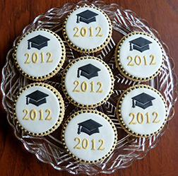 Hats Off Graduation Cookies