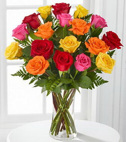 Gratitude's Glow Mixed Rose Bouquet
