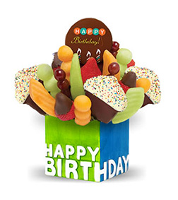 Confetti Birthday Cupcake Fruit Design