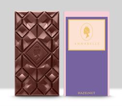 Large Hazelnut Chocolate Bar By Annabelle