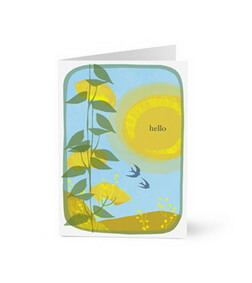 Hello in Sunny Upbeat Illustration Card (Hallmark)