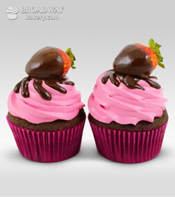 Strawberry Burst - 2 Cupcakes