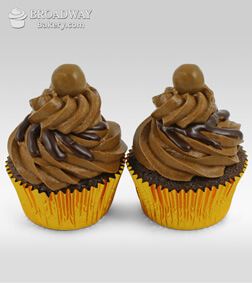 Two Mocha Cupcakes