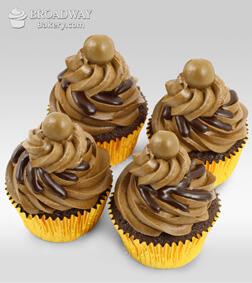 Four Mocha Cupcakes
