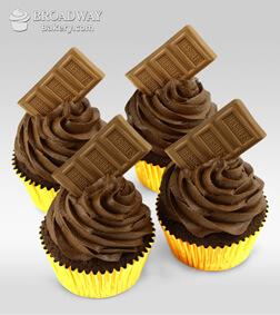 Chocolate Bomb - 4 Cupcakes