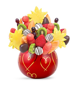 Hearts and Kisses Fruit Bouquet