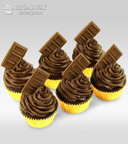 Chocolate Bomb - 6 Cupcakes