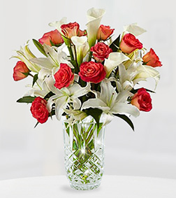 Marquis By Waterford Markham Blessings Luxury Rose Bouquet- VASE INCLUDED