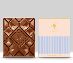 Milk Feuilletine Chocolate Bar By Annabelle