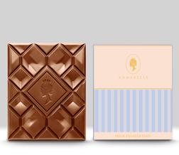 Milk Feuilletine Chocolate Bar By Annabelle