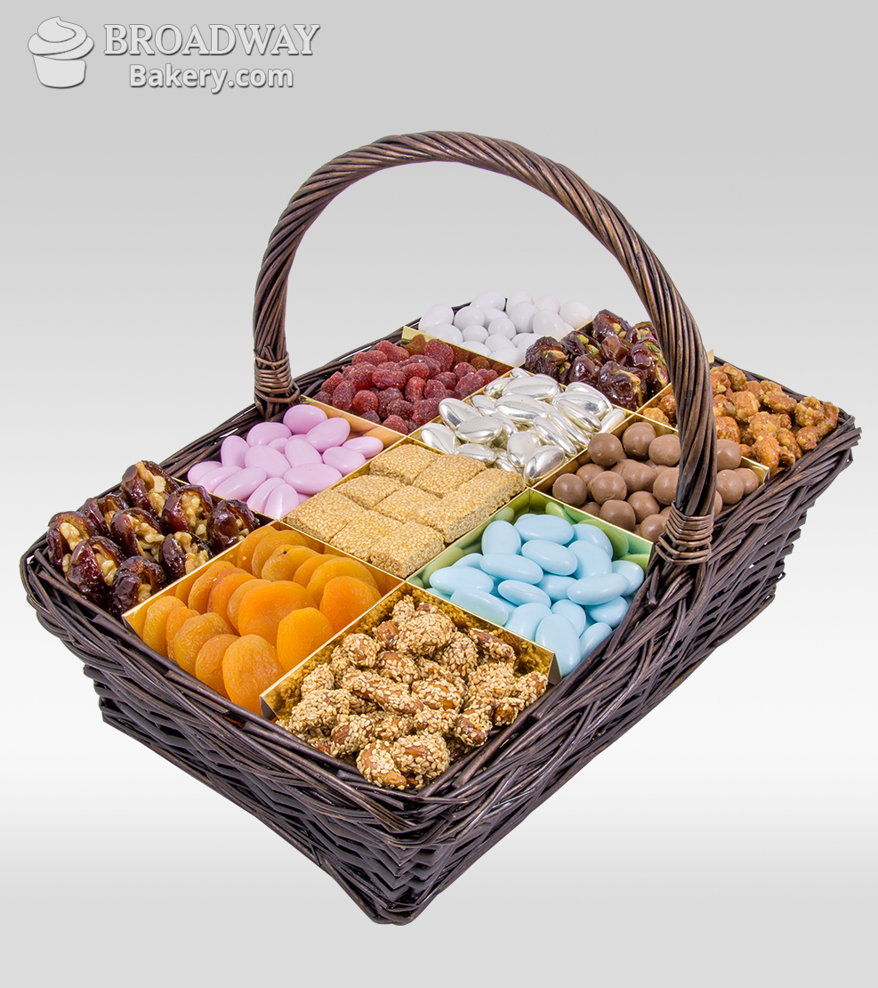 Premium Dried Fruit and Nuts Gift Basket